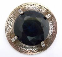 Vintage Large Scottish Shield Style Brooch By Miracle.